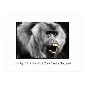 Funny Teeth Dental Checkup Appointment Reminder Postcard