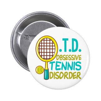 Funny Tennis 6 Cm Round Badge