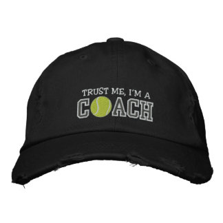 Funny Tennis Coach Embroidered Hats