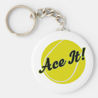 Funny Tennis Player Gift Key Ring