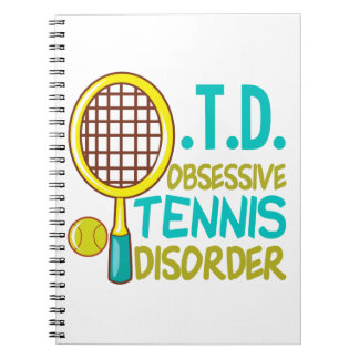 Funny Tennis Spiral Note Books