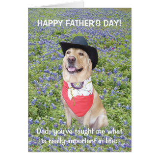 Funny Texas Father's Day Cards