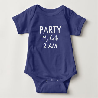 Funny Text Party Baby Baby Bodysuit