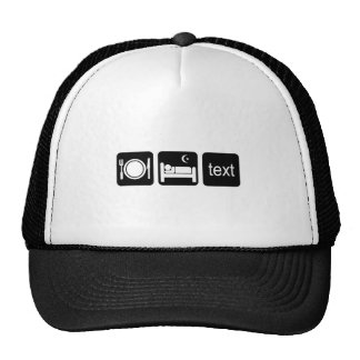Funny texting mesh hats