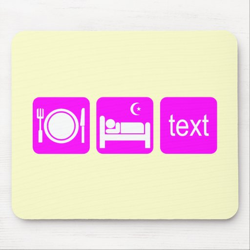Funny texting mouse pad