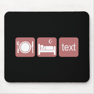 Funny texting mouse pads