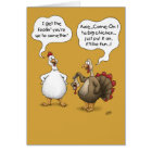 Funny Thanksgiving Cards: Big Chicken Card