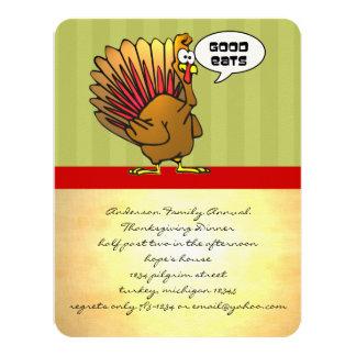 """Funny Thanksgiving Dinner Invitation 4.25"""" X 5.5"""" Invitation Card"""