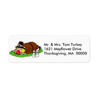 Funny Thanksgiving Pilgrim Return Address Labels