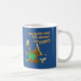 Funny Thanksgiving Turkey Dinner Basic White Mug