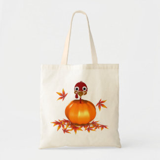 Funny Thanksgiving Turkey in Pumpkin - Budget Tote