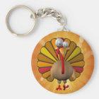 Funny Thanksgiving Turkey Key Ring