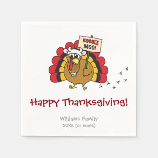 Funny Thanksgiving Turkey Paper Napkins