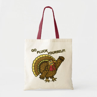Funny Thanksgiving Turkey Pun Tote Bags