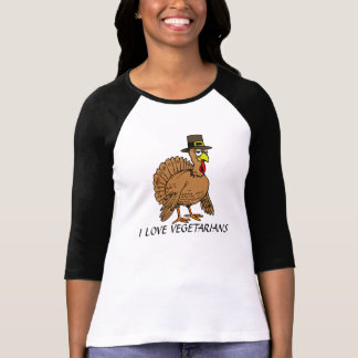 Funny Thanksgiving Vegetarians Turkey Pilgrim T-Shirt