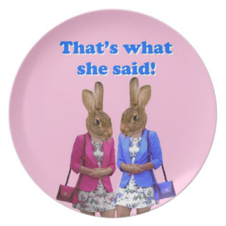 Funny that s what she said text dinner plate
