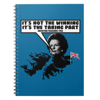 Funny Thatcher Falklands Spiral Note Books
