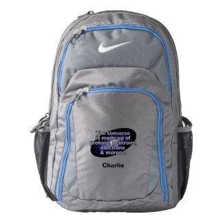 "Funny ""The Universe"" custom name backpacks"