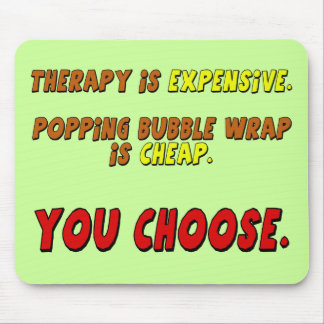 Funny Therapy T-shirts Gifts Mouse Mat