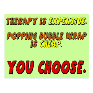 Funny Therapy T-shirts Gifts Postcard