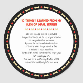 Funny Things I Learned From Glen of Imaal Terrier Stickers