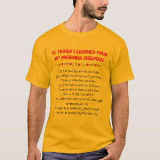 Funny Things I Learned From My Maremma Sheepdog T-Shirt