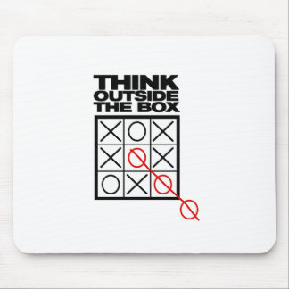 Funny Think Outside the box Mouse Pad
