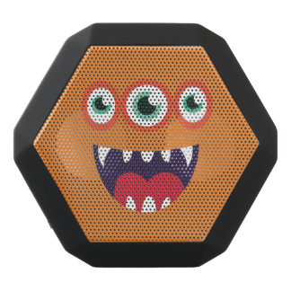 Funny Three-Eyed  Cute Monster. Black Bluetooth Speaker