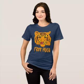 Funny Tiger Free Hugs unique customizable T-Shirt