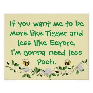 Funny Tigger and Pooh Sign