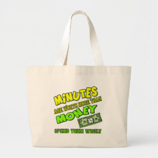 Funny Time and Money T-shirts Gifts Canvas Bag