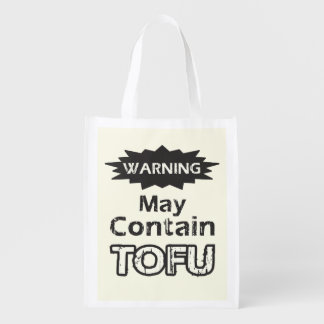Funny Tofu - 1-Sided Reusable Grocery Bag