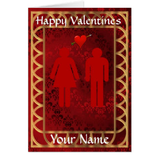 Funny  toilet sign love heart  valentine's day greeting card