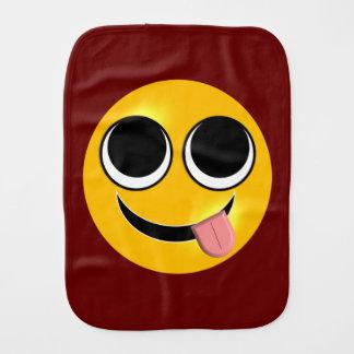 Funny Tongue Emoji Baby Burp Cloth