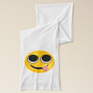 Funny Tongue Emoji Scarf