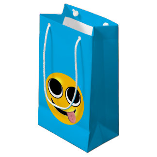 Funny Tongue Emoji Small Gift Bag