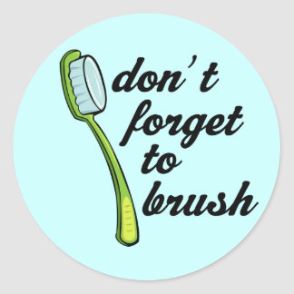 Funny Toothbrush Dentist Sticker