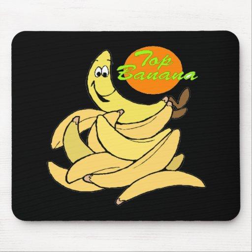 Funny Top Banana T-shirts Gifts Mouse Mats