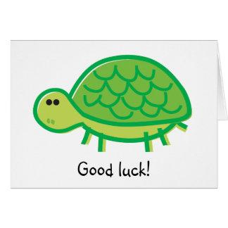 Funny Tortoise on White Card