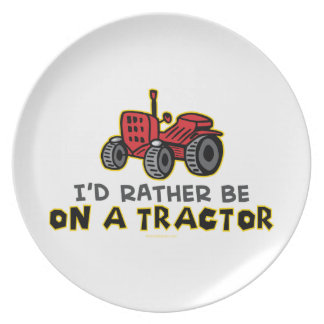 Funny Tractor Plate
