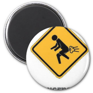 funny traffic sign 6 cm round magnet
