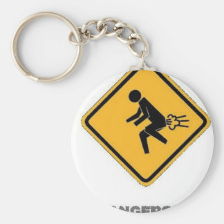 funny traffic sign basic round button key ring