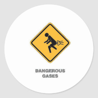 funny traffic sign round sticker