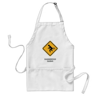 funny traffic sign standard apron