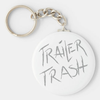 Funny Trailer Park Shirt Basic Round Button Key Ring