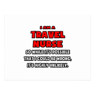 Funny Travel Nurse Highly Unlikely Postcards