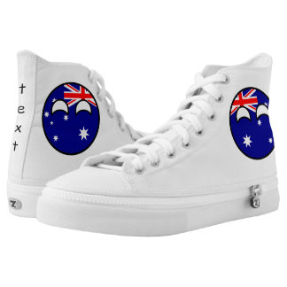 Funny Trending Geeky Australia Countryball Printed Shoes