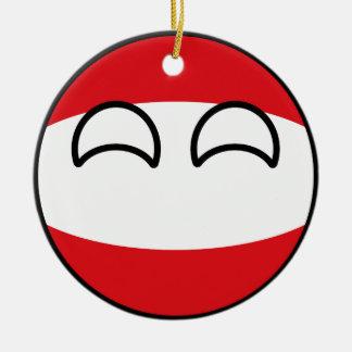 Funny Trending Geeky Austria Countryball Ceramic Ornament