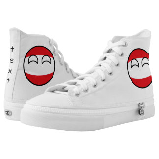 Funny Trending Geeky Austria Countryball High Tops