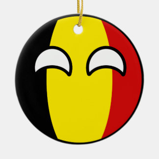 Funny Trending Geeky Belgium Countryball Ceramic Ornament